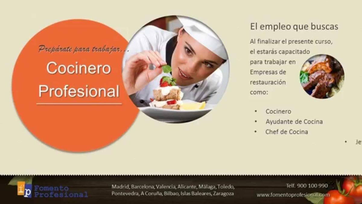 Incorpórate en Galicia, Madrid o Barcelona a un puesto de trabajo como chef de cocina, cocinero o jefe de cocina - Curso con bolsa de trabajo